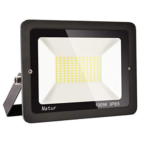 100W LED Strahler Außen Superhell LED Fluter 6000K LED Scheiwerfer IP65 Wasserdicht LED Flutlicht Außenstrahler Außenleuchte für Werkstatt Garage Garten (Kühles Weiß, 100W-new)