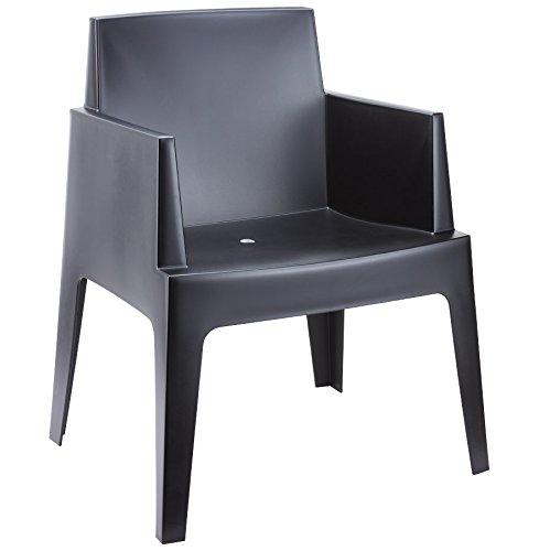 Alterego - Chaise design 'PLEMO' noire en matière plastique