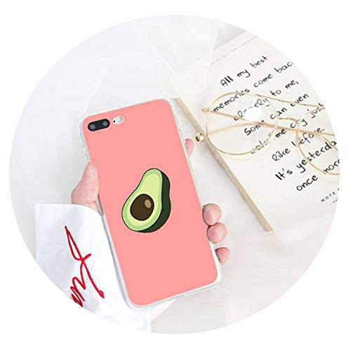 Caja del teléfono de la Cubierta Suave de Aguacate Shell para el iPhone 8 7 6 5 6S Plus 5S SE XR X XS MAX 10 11 11Pro 11promax Coque-Shell por la Mitad,para el iPhone 11,A6
