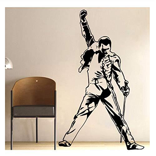 Vintage Freddie Mercury Queen Band Musik Rock Vinyl Aufkleber Tapete Für Raumdekoration Schlafzimmer Wohnzimmer Wand-dekor 58X94 CM
