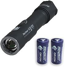 Armytek Partner C2 Pro v3 2000 Lumens Flashlight XHP35 LED -Neutral White LED w/2x Eco-Sensa Premium Photo Lithium CR123 Batteries
