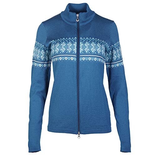 Dale of Norway Hovden Fem, Giacca Donna, Arctic Blue/off White/Tuerkis/See Mele, XL