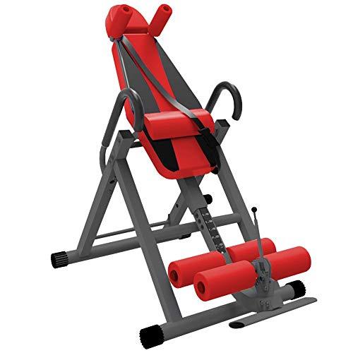 Tabla de Inversión Dispositivo Invertida Máquina Home Fitness Equipo Auxiliar Invertida Invertida Percha revés Aparatos de inversión (Color : Red, Size : 152x115x75cm)