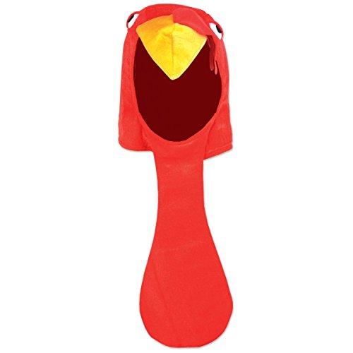 Beistle Plush Turkey Head Hat Thanksgiving Party Supplies, Fall...