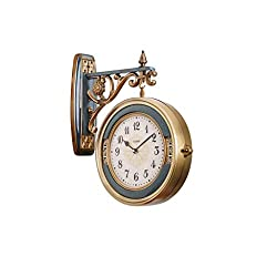Digital Wall Clock/Wall Clocks Living Room Double-sided Clock Creative Light Luxury Mute Clock Retro Double-sided Wall Clock / Outdoor Double-sided Wall Clock / Gallery Decorative Wall Clock Decorativ