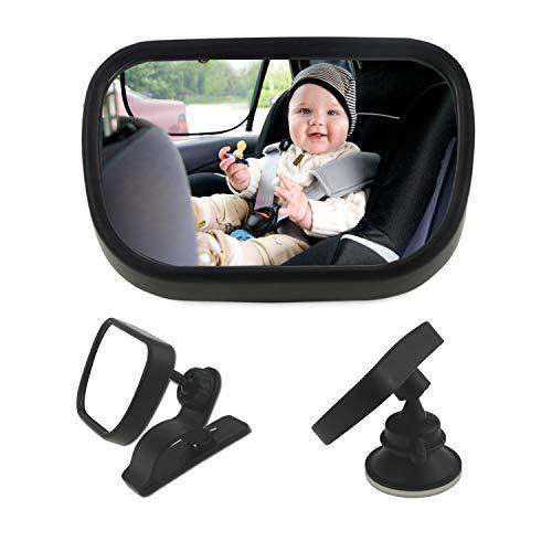 Espejo coche bebe GKONGU 30*19CM Espejo Retrovisor de Beb/é Espejo para vigilar al beb/é en el coche Espejo de coche de beb/é para la conducci/ón segura