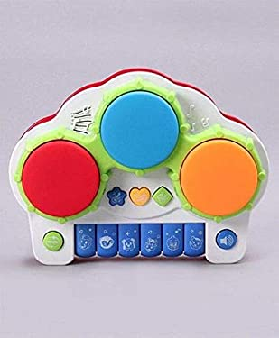 SRM Electronic Drum with Keyboard - Multicolor