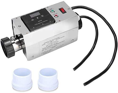 3KW termostato de acero inoxidable resistente al agua de la piscina de la piscina calefacción termostato termostato SPA Jacuzzi calentadores de agua eléctricos de la bomba Asistente Digital,Eu