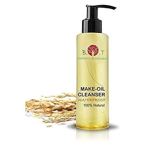 B.O.T cosmetic & wellness Aceite Desmaquillante Waterproof 100% Natural, Oro, 200 Mililitro