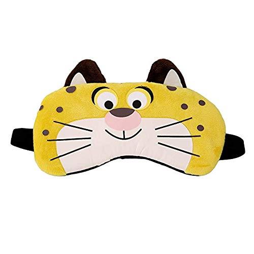 Doitsa Schlafmaske Karikatur Baumwolle Augenmasken Premium Schattierung Schlafmaske auch als Kühlmaske verwendbar für Erwachsene/Kind 20 * 12cm Leopard