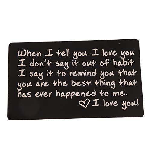 Yeucan personalisierte Metallkarten-Kredit sortierte Geldbörsen-Geldbeutel-Postkarten-Valentinsgruß-Tagesgeschenk-Verzierung,Schwarz