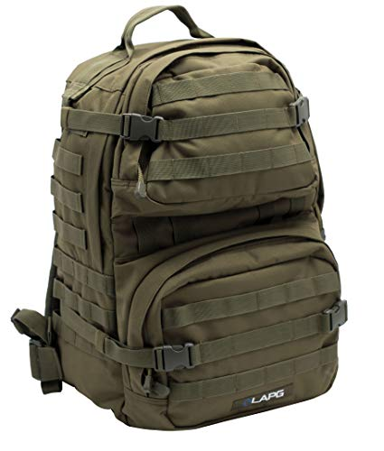 LA Police Gear 3 Day Tactical Backpack for Hunting, Military, Camping, Hiking, and Survival 2.0-GRN