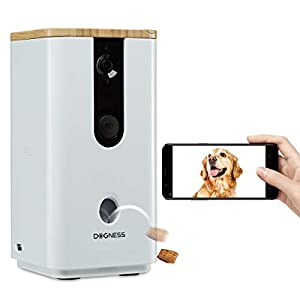 Pet Camera with Treat Dispenser WiFi Dog Camera with HD Night Vision Video Monitor and 2-Way Audio, Designed Camera for Dogs