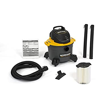 WORKSHOP Wet Dry Vac WS0610VA General Purpose Wet Dry Vacuum Cleaner, 6-Gallon Shop Vacuum Cleaner, 3.5 Peak HP Wet And Dry Vacuum