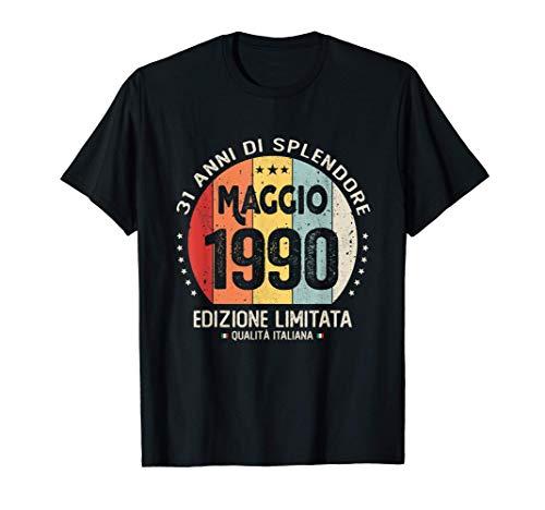 Vintage Maggio 1990 donna uomo Regali per 31 anni Compleanno Maglietta