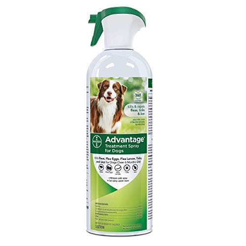 Advantage Flea and Tick Treatment Spray for Dogs, 15 oz