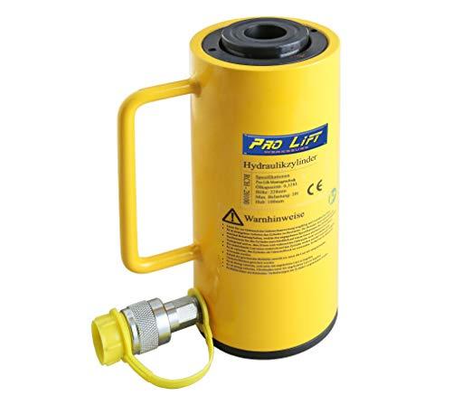 Pro-Lift-gereedschappen 20 t holle kolf hydraulische cilinder zuigerslag 100 mm hydraulische pomp werkcilinder cylinder 20.000 kg drukkracht heavy duty lift 20t