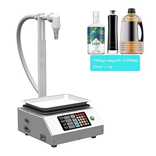 Digitale Flüssigkeitsabfüllmaschine 50-15000ml Automatische quantitative digitale Kontrolle Flaschenfüller Edelstahl-Abfüllmaschine für Speiseöl, Wasser, Wein, Getränke