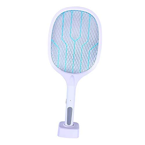 Baoblaze Bug Zapper, mosquiteros, lampara y Raqueta 2 en 1, matamoscas eléctricas Recargables para el hogar y el Exterior