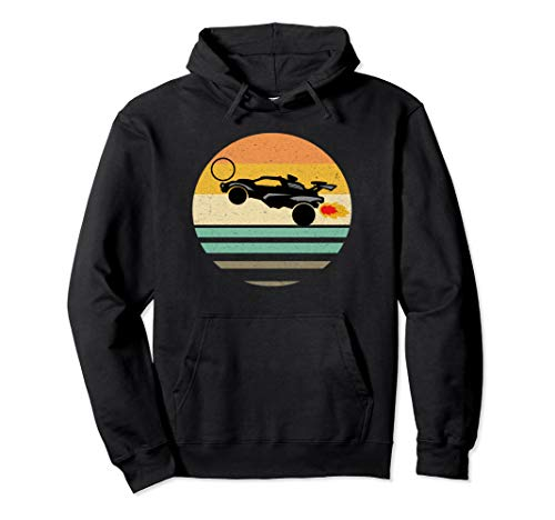 Octane Rocket Soccer Retro Sunset Distressed Graphic Pullover Hoodie