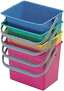 MSV 100002 Seau Rectangulaire Plastique Coloris al/éatoire 37 x 23 x 26 cm