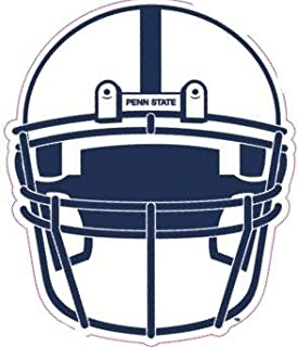 4 Inch Penn State Football Helmet Decal Nittany Lions Pennsylvania University PSU Removable Repositionable Peel Self Stick Wall Sticker Art NCAA Home Room Decor 4 1/2 by 4 inches