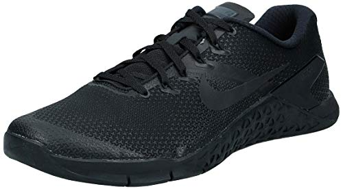 Nike Men's Metcon 4 Cross Training Shoe (10.5 M US, Black/Hyper Crimson)