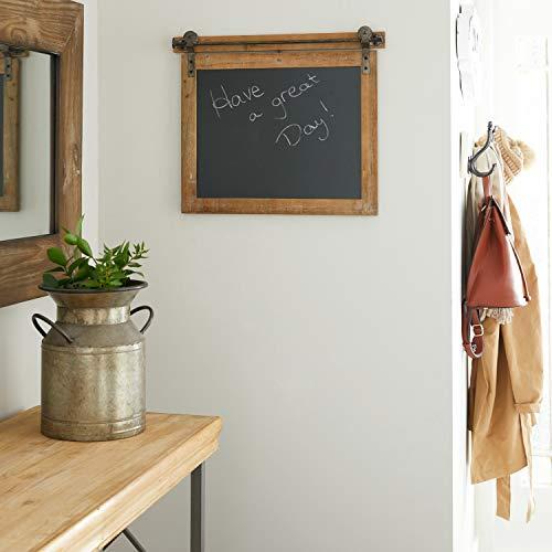 Deco 79 84251 Wood and Metal Chalkboard, 21x1x17, Brown/Black