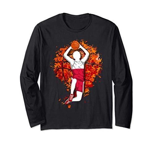 ポーランド バスケットボール ポーランドの国旗-バスケットボール好き - Poland Basketball Lover 長袖Tシャツ