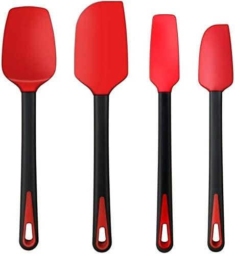 TEEVEA Silicone Spatula Set Rubber Jar Spoon Spatula Kitchen Utensils Non Stick Heat Resistant product image