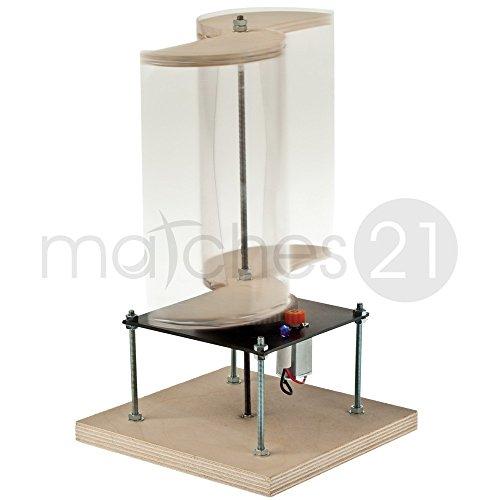 matches21 Windgenerator mit Savonius Rotor erzeugt Windenergie Holz Elektro Bausatz Bastelset mit Bauanleitung