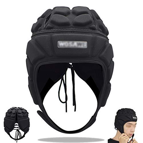BLLJQ Torwarthelm Erwachsene Fußball Rugby Kopfschutz Antikollisionshelm Atmungsaktiv Unterstützung Ski BMX Bergsteigen Epilepsie Kopf Fallschutz,L
