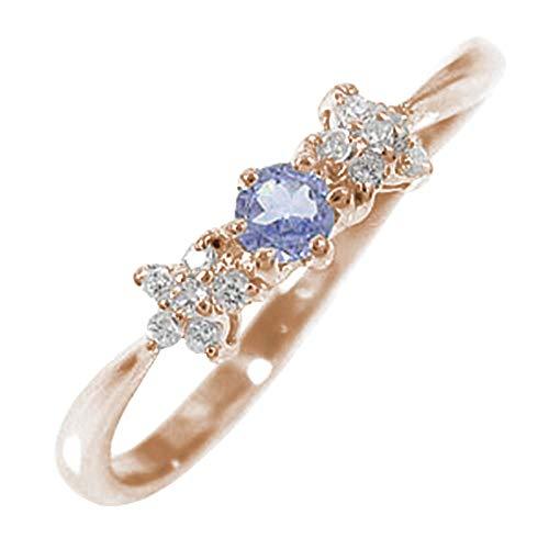 アルマ タンザナイトリング 10金ピンクゴールド 指輪 ダイヤ ピンキーリング 7.5号 【130520w36】