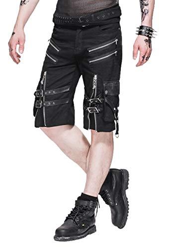 Devil Fashion Steampunk - Pantalones cortos de verano para hombre, con...