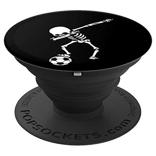 Dabbing Skelett Fussballer Schwarz Weiß Dab Fußball Fussball - PopSockets Ausziehbarer Sockel und Griff für Smartphones und Tablets