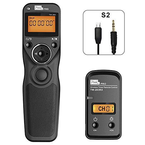 PIXEL TW-283 S2 Télécommande sans Fil Déclencheur à Distance Câble de déclenchement pour Sony A9 A99II A7 A7II A7III A77II A7R A7RII A7RIII A7S A7SII A6300 A6500 A58 A68 HX300 RX100II HX50 RX100M2