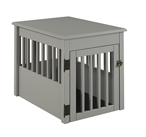 BarkWood Pet Crate End Table - Grey Finish