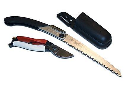 Silky Okatsune Top - Juego de herramientas de jardinería (incluye tijeras de podar, sierra plegable y bolsa para cinturón)