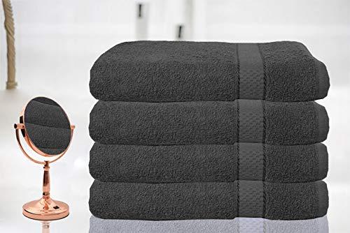 Casabella Luxury Pack Of 4 Bath Sheet 100% Egyptian Cotton Super Soft towel_Grey