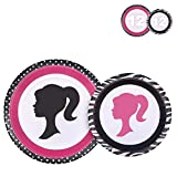 24 Party Plates for Barbie Birthday 7 Inch 9 Inch, Cake Paper Dessert Set Decorations A2