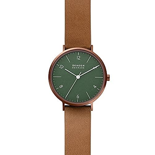 SKAGEN Womens Analog Quartz Uhr mit Leather Alternative Made with Apple Armband SKW2973