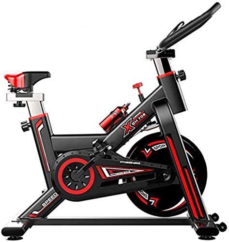 Indoor Spinning Bicycle Ultra-Quiet Esercizio Bike Home Bicicletta Sport Attrezzatura per Il Fitness Aerobica Training Device, può Essere regolata in Base alle proprie,Nero