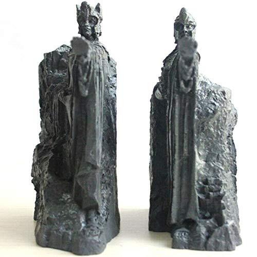 LISAQ Hobbit Third Die Tore von Gondor Argonath Statue Buchstützen 14cm Harz Buchhalter
