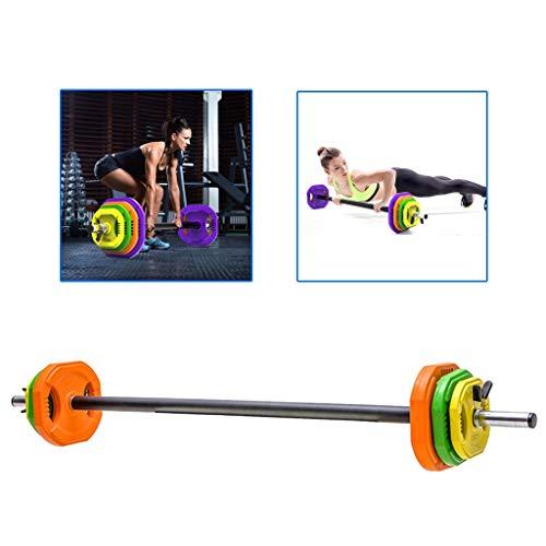 Barbell Langhantelset Heimfitness Hantel Stück Hand greifen Gewichtheben Hantel Squat Hantel for Männer und Frauen (Color : Orange, Size : 5kg)