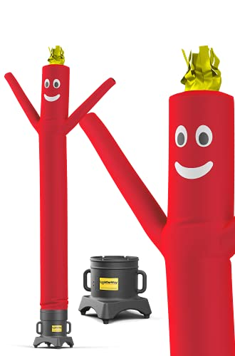 LookOurWay Air Dancers Inflatable Tube Man Set / 10 ft Waving Inflatable Tube Guy with 1/2 HP Blower For Stand Out Advertising (Red)