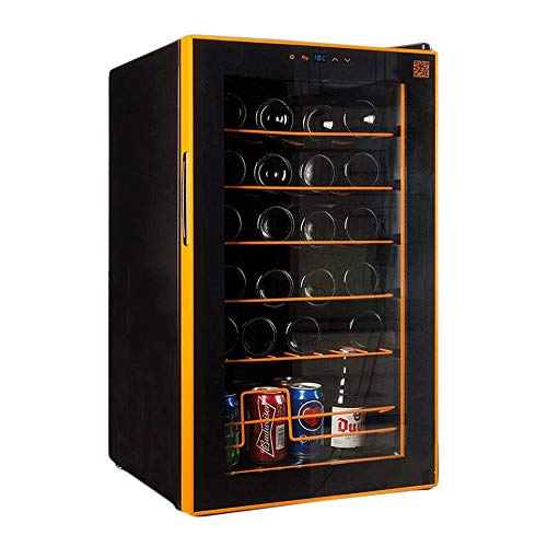 CHENMAO Constant Temperature wine Cabinet, Touch Fruit and Other Items, with Digital Temperature Display, Freestanding Smoked Glass Door