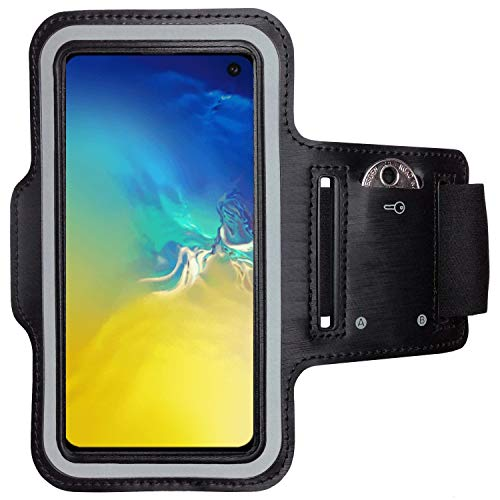 CoverKingz Sportarmband für Samsung Galaxy S10e - Armtasche mit Schlüsselfach Galaxy S10e - Sport Laufarmband Handy Armband Schwarz