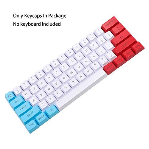 YMDK - Juego de Teclas Personalizadas 61 ANSI OEM Perfil Grueso PBT para Cherry MX Switches Mechanical Gaming Keyboard Top Printed