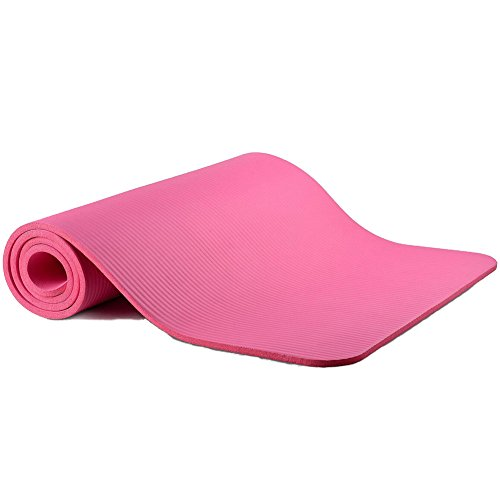 Sunny Thick High Density Exercise Yoga Mat with Carry Strap (Size 71
