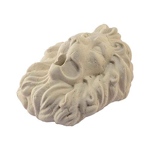 Tête de lion en marbre jaune Istria sculpté à la main pour fontaine